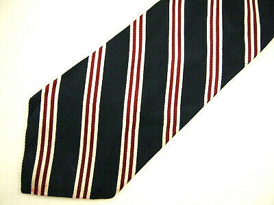"""Brooks Brothers Makers Mens Necktie Tie Navy Blue Red White Striped 59"""""""