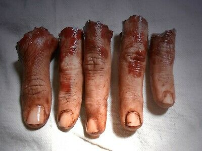 HORROR PROPS MOVIE FX Life Size Silicone Fingers HALLOWEEN Corpse Body Parts