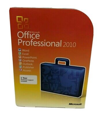 Microsoft Office 2010 Professional - DVD Installation - Product Key Included