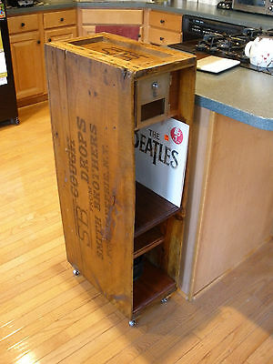 Early 1900s SMITH BROTHERS COUGH DROPS CRATE - Repurposed Nightstand - Cabinet