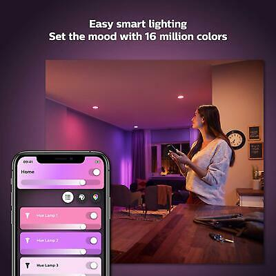 Philips Hue Colour Smart Bulb x2 LED B22 Bluetooth, Google & Alexa Kit - BNIB!