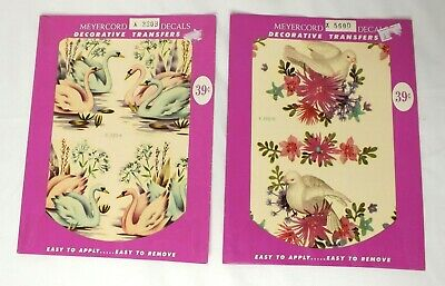 Meyercord Decals Furniture Transfers Swans Doves