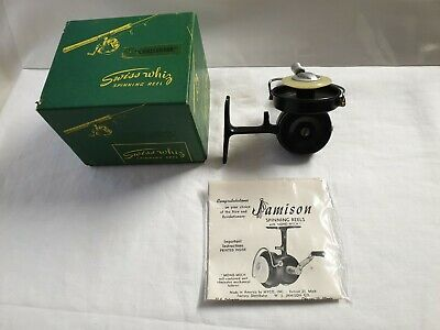"Reel Vintage MYCO SWISS WHIZ ""CHALLENGER"" + BOX ( NEW ) USA MOULINET THREADLINE"
