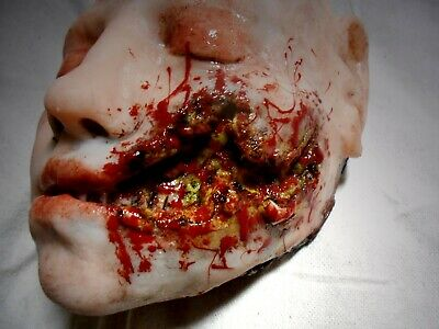 HORROR PROPS MOVIE FX Silicone Half Head HALLOWEEN Corpse Body Parts Fish Hooked