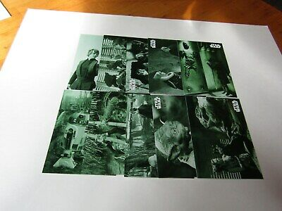 STAR WARS B&W  RETURN of the JEDI  GREEN HUE PARALLEL LOT 19 CARDS No Dups #/99