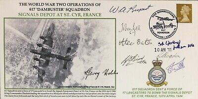 617 Squadron DAMBUSTERS: Signals Dep St. Cyr MULTI SIGNED FDC with 8 Signatures!