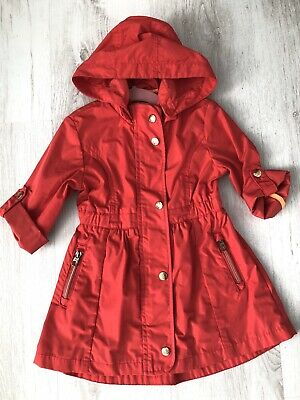 TED BAKER Girls Age 2-3 Years Pink Lightweight Unlined Spring Jacket Coat