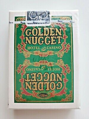 Golden Nugget - Hotel And Casino - Playing Cards - Rare - Green