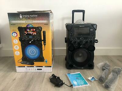 Singing Machine Fiesta Portable Karaoke System with Microphones (SDL9040)