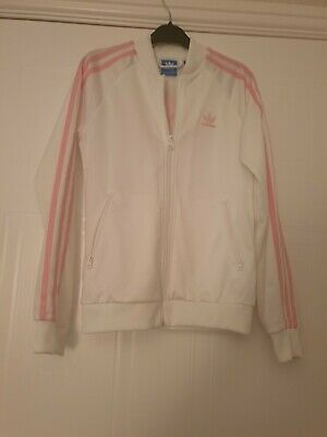 Girls Large Logo Adidas Tracksuit Jacket Top, Age 11-12 Yrs, Excellent Condition
