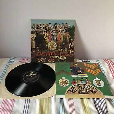 BEATLES Sgt Peppers LP Mono 1967 UK 1st Press + Cut Out Card Very Good Copy !!
