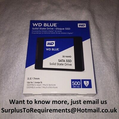 "Western Digital Blue 500GB, 2.5"" SSD"