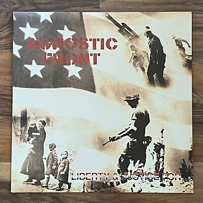"AGNOSTIC FRONT Liberty And Justice For 12"" LP 1987 Rare KBD Punk Cro Mags NYHC"