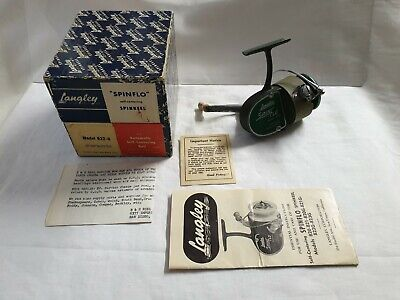 Reel Vintage LANGLEY SPIN FLO 822G  + BOX USA MOULINET ANCIEN THREADLINE RARE