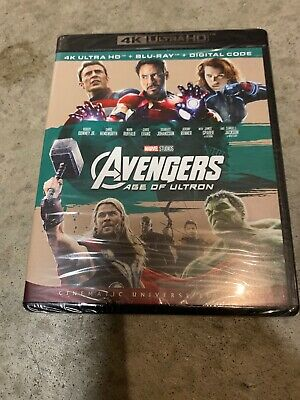 AVENGERS AGE OF ULTRON - 4K ULTRA HD (BLU-RAY) + DIGITAL CODE - NEW With Poster