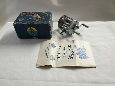 Reel Vintage ABU RECORD 1600 + BOX Made SWEDEN MOULINET ANCIEN THREADLINE RARE