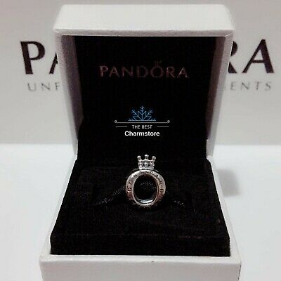New Genuine Pandora Sterling Silver Crown O Logo Charm 797401 RRP£35 Without Box