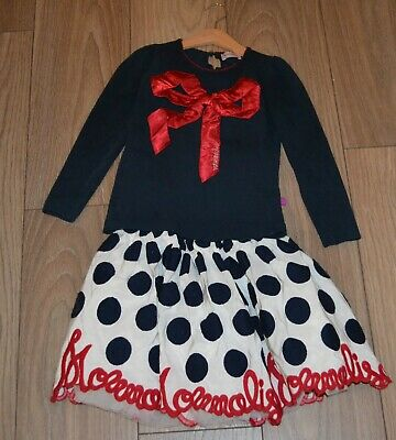 Girls gorgeous Monnalisa outfit skirt and top  size 6-7 years