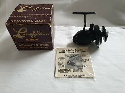 Reel Vintage LONGFELLOW SR3000 + BOX USA MOULINET ANCIEN THREADLINE RARE OLD