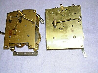 Clock  Parts ,2 Brass   Movements , Spares Or  Repair