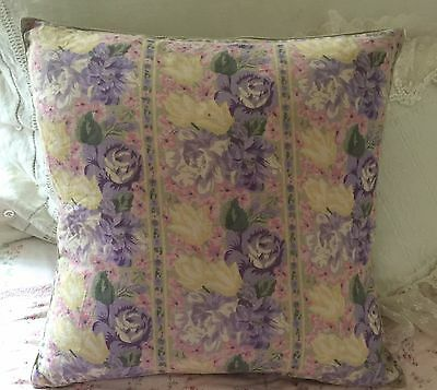 "April Cornell Accent Pillow COVER Lavender, Yellows,Pinks & Green Floral 15""x15"""