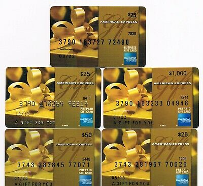 Collectible bank gift cards NO CASH VALUE lot of 5, different values old, used