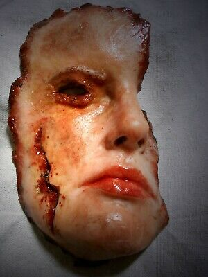 HORROR PROPS MOVIE FX Silicone Corpse Face HALLOWEEN Dead Zombie Body Parts
