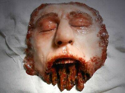 HORROR PROPS MOVIE FX Silicone Face HALLOWEEN Butchered Dead Zombie Body Parts