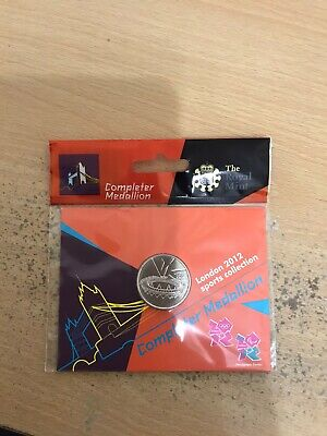 Royal Mint London 2012 Brand New Olympic 50p Completer Medallion uncirculated