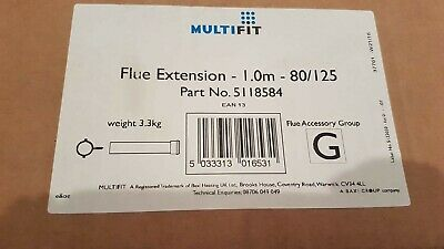 Baxi Multifit Group G 1.0m Flue Extension Part no. 5118584 80/125