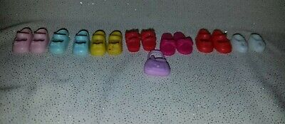 Kelly Barbie Doll Lot of 7 pairs of assorted shoes! Pink Purple Red White Yellow
