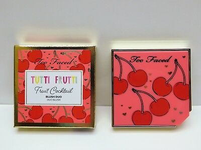 Too Faced Tutti frutti Fruit Cocktail Blush Duo CHERRY BOMB boxed NIB highlight.
