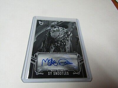 MIKE QUINN, as SY SNOOTLES  STAR WARS B & W RETURN of the JEDI AUTOGRAPH