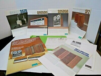 Sansui Catalog and Brochures Navy Exchange July 72 QR-6500 Brochure and more