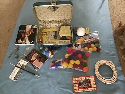 Huge  Lot Of Vintage Magic Items Rope, Wand, Balls, misc