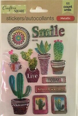 Cactus ~ Dimensional Layered Stickers ~ Crafters Square