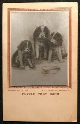 Deeks Puzzle Postcard Puppies And Kittens
