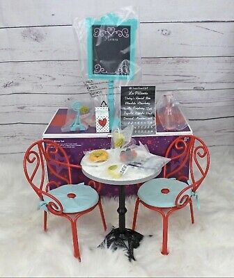 In EUC American Girl Doll Grace Thomas' Bistro Set W/2 Chairs!!
