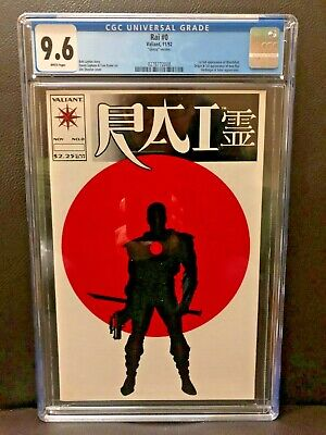 Rai #0 CGC 9.6~1st FULL Bloodshot~GLOSSY version~ONLY 7,500~Vin Diesel movie!~NR