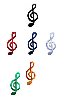 10x G clef treble musical note music scale classical applique iron on patch