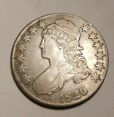 1826 Capped Bust Half Dollar Looks Xf die cracks O-111a NR !!SEE ALL AUCTIONS!!!