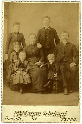 "Cabinet photo of ""LEVI & MELISSA BEYER FAMILY"" 1847-1925 Danville, PA"