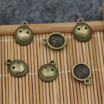 Free Shipping 10pcs Smiley Pendant Necklace Fashion Accessory Pendant 12x10mm