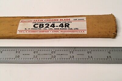 "New STARRETT CB24-4R 24"" Blade Rule for Combination Sqaures / Sets & Protractors"
