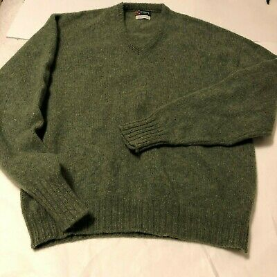Vintage McGregor Men's Wool/Mohair Sweater Adult L EUC USA Made Green