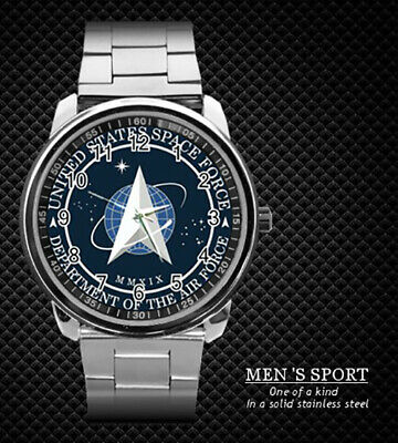 Us Space Force Department Of The Air Force Stainless Steel Watch New 2020 (Rare)