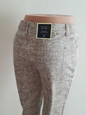 Charter club Women Pants NEW Latte combo Size 12 Straight Leg Spandex Cotton  P5