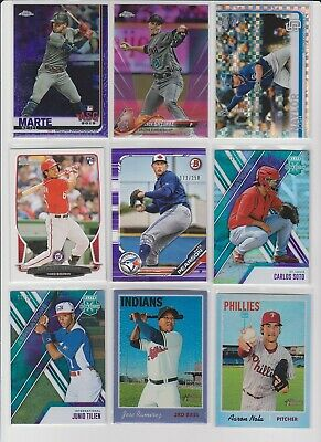 Nate Pearson 2018 Bowman Prospects Purple Rc #172/250 Blue Jays Combined Ship