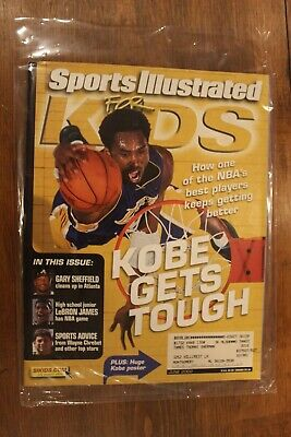2002 Sports Illustrated for Kids-Kobe Bryant-LeBron James-Los Angeles Lakers