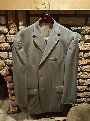 Tommy Hilfiger Mens 42S Suit - 36w Flat Front Gray 100% Wool Three Button Nice